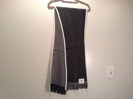 Dark Gray Knitted Reversible Scarf One Size NEW WITH TAGS