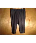 Dark Gray Pleated Dress Pants by Bill Blass 100 Percent Wool Size 40R - $49.49