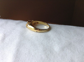 Circular Purple CZ with White CZ Accents Gold Plated Ring Size 10 image 8