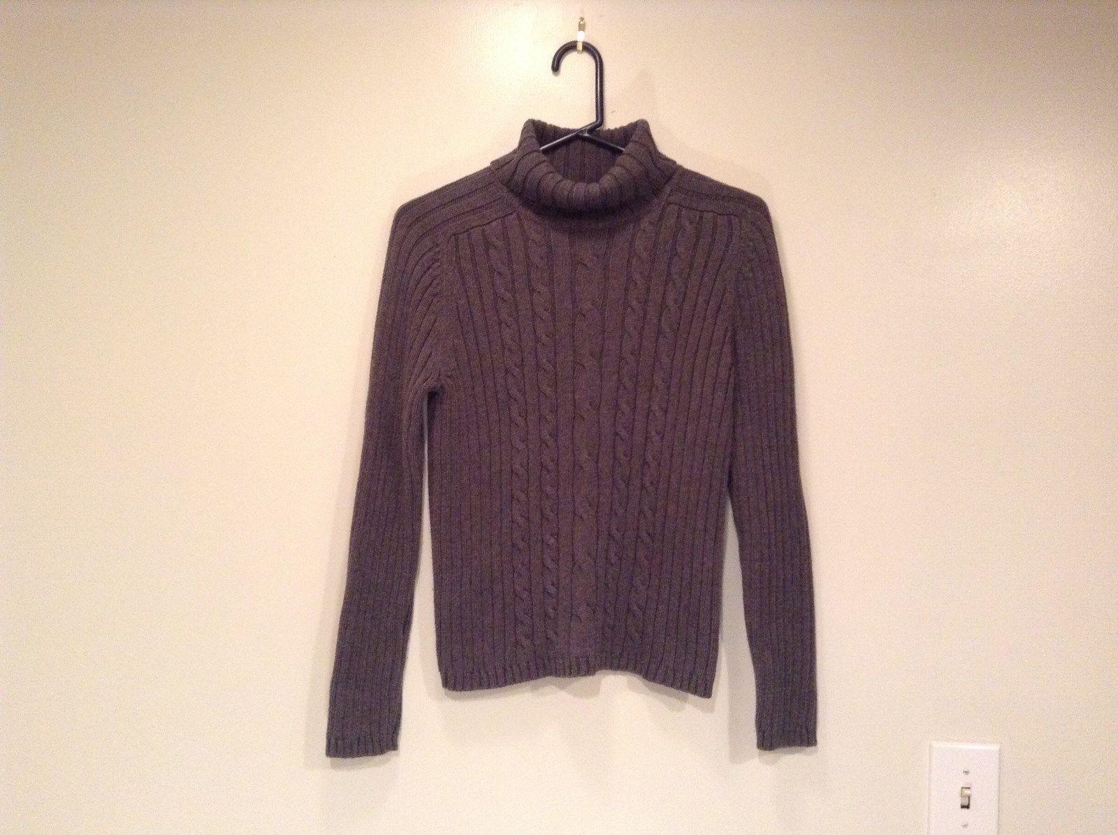 Dark Gray Knitted Turtleneck Sweater Marsh Landing Size M 100 Percent Cotton