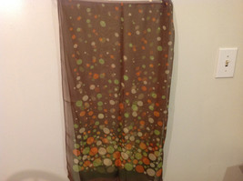 """Circles and Dots"" Summer Sheer Fabric Multicolor Scarf, colors of your choice image 5"
