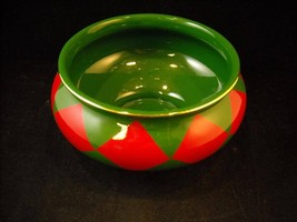 Decorative Christmas bowl green red checkered Teleflora - $49.49