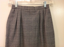 Classic Black White Plaid Fully Lined Below knee Length Pencil Skirt, Size 6 image 3