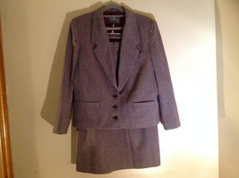 Dallas Purple Red Tone Herringbone Skirt Suit Jacket 3 Button Closure Size 12/13