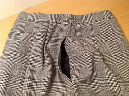 Classic Black White Plaid Fully Lined Below knee Length Pencil Skirt, Size 6 image 7