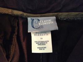 Classic Elements Navy Blue Size 14 Capris 100 Percent Cotton image 4