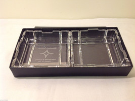 Clear Glass Coin Jewelry Tray Holder Ashtray dish top & bottom Rhinebeck Bank image 2