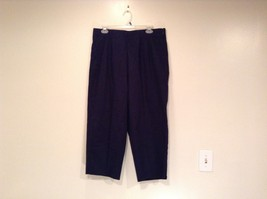 Dark Blue Briggs New York Size 16W Capri Pants Side Zipper Closure Cotto... - $39.59