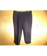 Dark Blue Pleated Dress Pants Size 40 Cordovan and Grey 100 Percent Virg... - $39.59