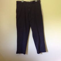 Dark Blue DOCKERS Long Casual Pants Size 38W 32 Long 2 Front and Back Pockets