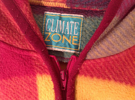 Climate Zone Very Warm Purple Green Yellow Pink Sweater with Hood Size Large image 2
