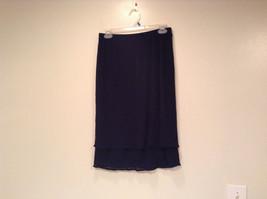 Dark Blue Stretch Fabric Kathy Ireland 100 Percent Polyester Size Medium Skirt image 1