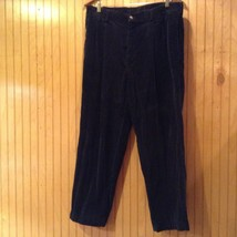 Dark Blue Size 36 by 30 Casual Pants Front and Back Pockets Zipper Closure