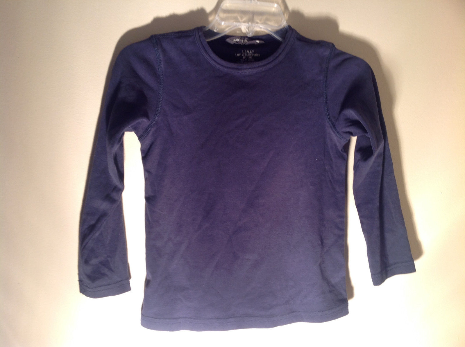 Dark Blue Long Sleeve Shirt LOGG 100 Percent Organic Cotton Size 6 to 8 years