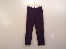 Dark Brown Casual Pants Two Front Pockets GAP Stretch Size 6