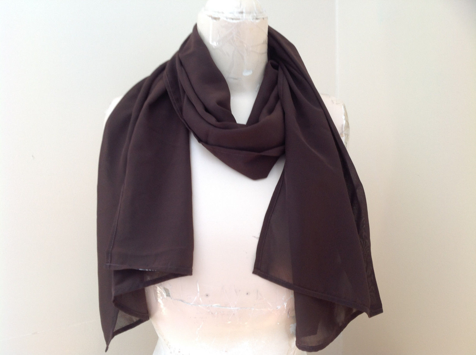 Dark Brown Fashion Scarf Chiffon Like Material by Magic Scarf Company