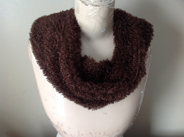 Dark Brown Faux Curly Lamb Infinity Scarf See Measurements Below