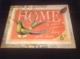 Decorative Metal Plaque Bird Design Home Theme Brand New Tag image 1
