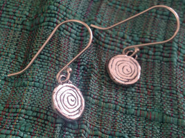 Delicate Hammered Sterling Silver Coil Earrings