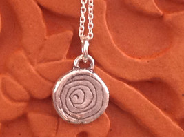 Delicate Hammered Sterling Silver Coil Necklace image 1