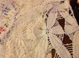 Collection lot of hand stitched crocheted embroidered doilies and runners image 2