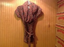 Decree Turtle Neck Short Sleeve Sweater Pink Purple Women Size M