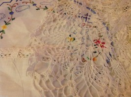 Collection lot of hand stitched crocheted embroidered doilies and runners image 4