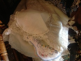 Collection lot of hand stitched crocheted embroidered doilies and runners image 7