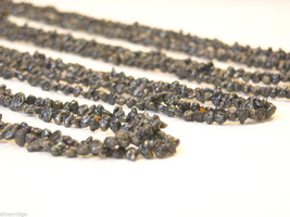 Collection of five black beaded necklaces vintage image 4