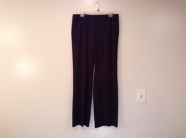 Dark Brown LAUREN by Ralph Lauren Sanderson Pleated Front Dress Pants Size 10