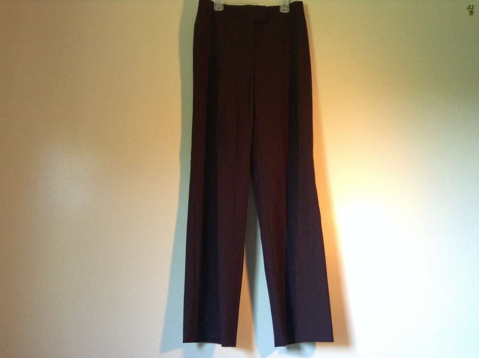 Dark Burgundy Designer Pants Escada Made in Romania 100 Percent Wool Size 36