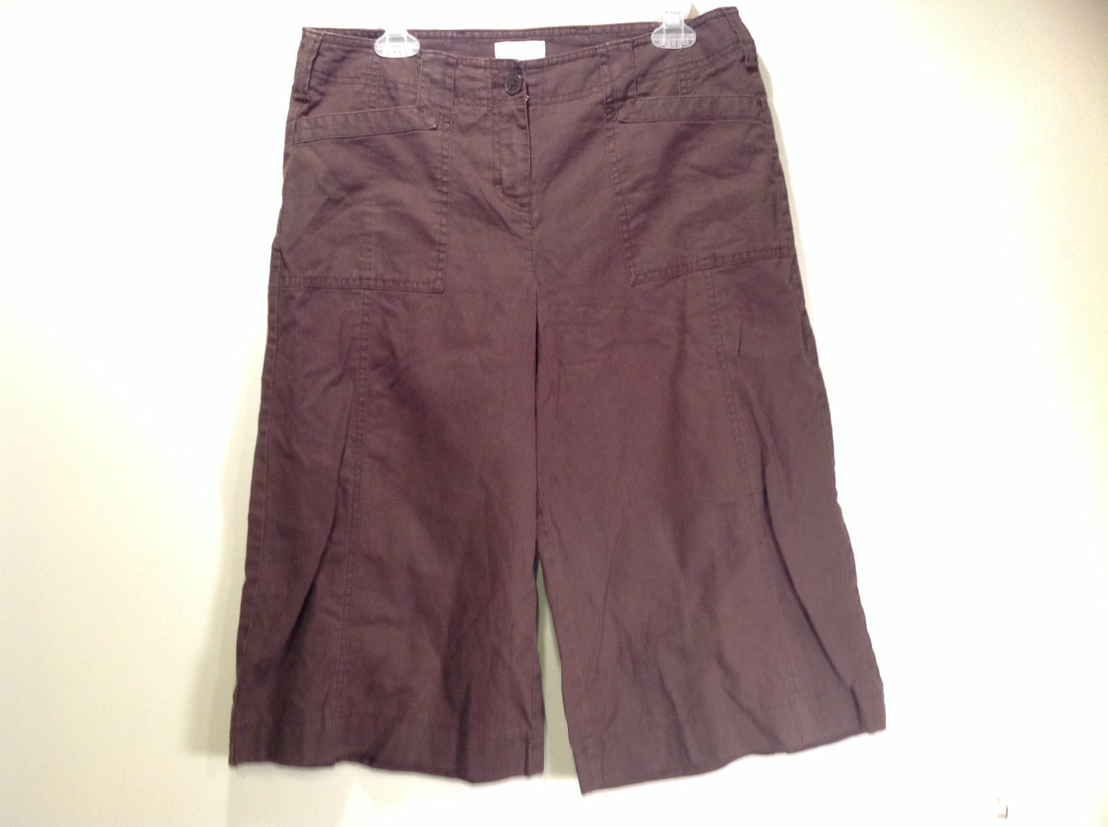 Dark Brown Walking Shorts Size 10 Ann Taylor Loft Front and Back Pockets