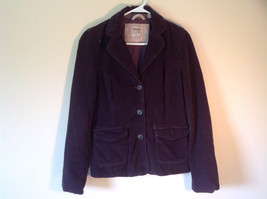 Dark Brown Timberland Corduroy Jacket 2 Front Pockets 3 Button Closure Size 8