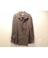 Dark Brown Gray H and M Size 10 Long Hidden Button Up Closure Jacket Poc... - $49.49