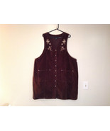Dark Brown V Neck Sleeveless Dress 3X Eric Charles 100 Percent Cotton co... - $19.79