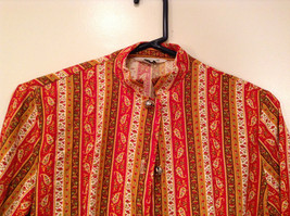 Couture Size 34 Long Sleeve Fun Shirt with Ringing Bells Front Closure image 3