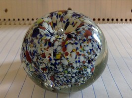 Colorful Round Blown Glass Paperweight Murano Goes Well In Any Setting image 3