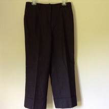 Dark Gray 100 Percent Wool Pants Inner Lining Cuffed Bottoms by David N Size 0