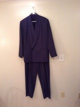 Dark Gray Jacket and Pant Suit COZZ Size Medium Two Button Closure Jacket
