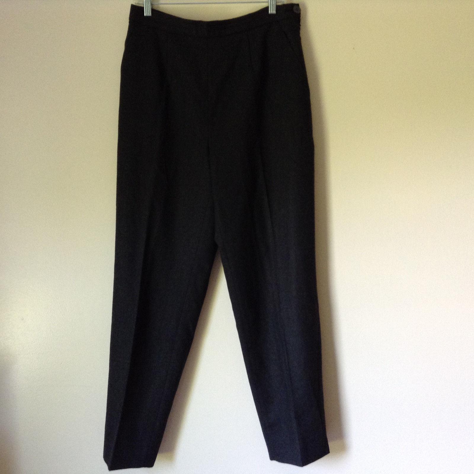 Dark Gray Dress Pants by Studio 0001 by Ferre Made in Italy Side Zipper Size 14