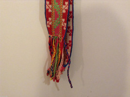 Colorful handmade tribal waistband belt or scarf image 6
