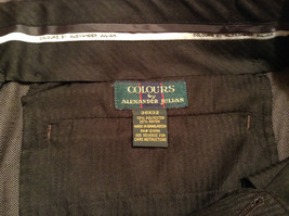 Colours by Alexander Julian Nice Pleated Front Gray Dress Pants Size 36 by 32 image 9