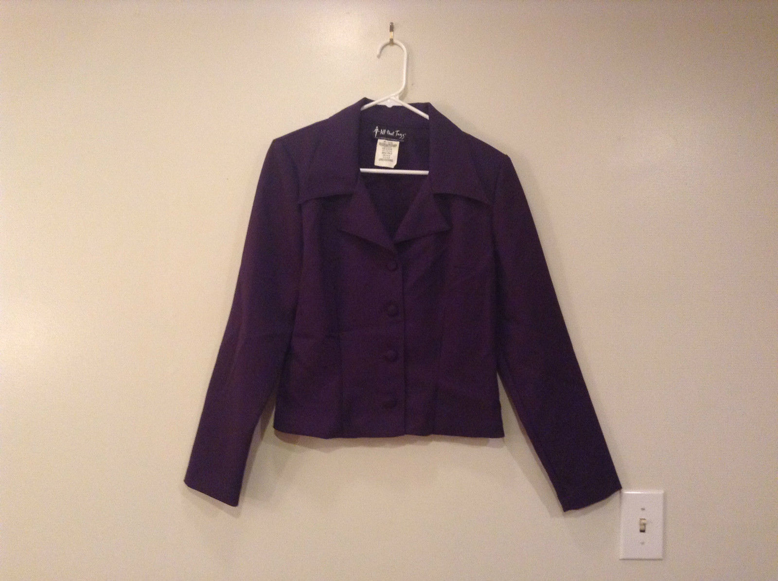 Dark Deep Purple Jacket 100 Percent Polyester All That Jazz Size 11 to 12