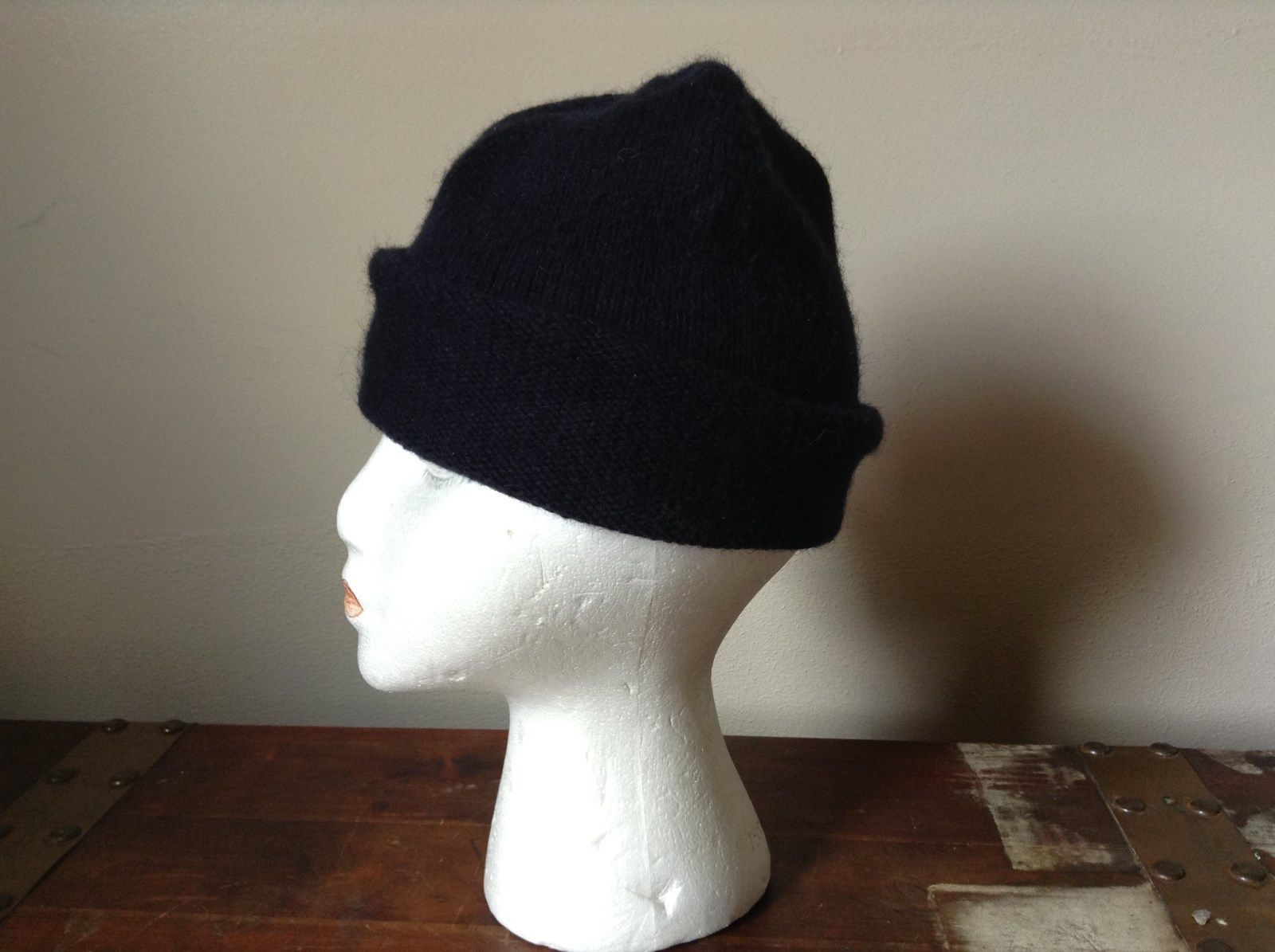 Dark Navy Blue Beanie Hat by H and M One Size Fits Most