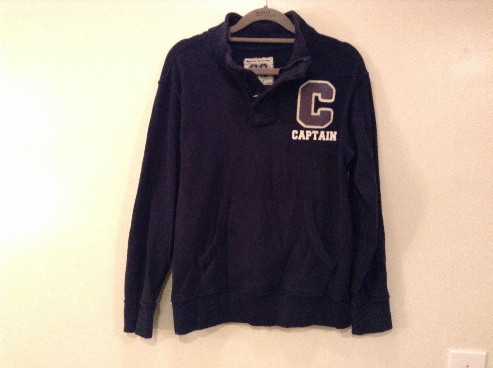 Dark Navy Long Sleeve Sweatshirt Athl Dept Size Large 10 to12 Letter C Captain