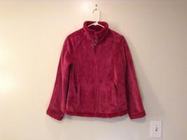Dark Pink Size S Faux Fur Jacket Front Pockets Front Zipper Closure Green Tea image 1