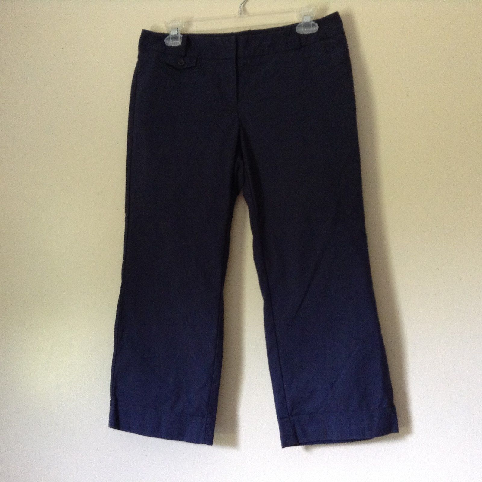 Dark Navy Blue New York and Company Carpi Pants Size 6