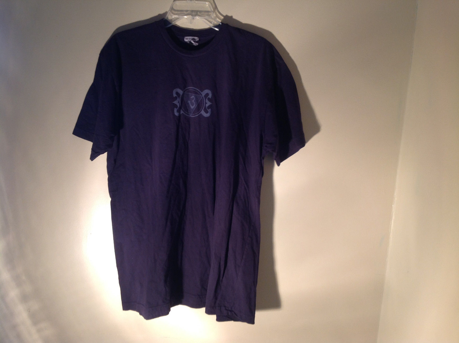 Dark Purple Short Sleeve Be Present Logo on Front and Back Size XL