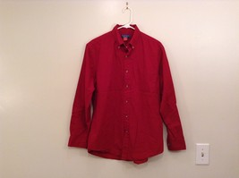 Dark Red Puritan Size M 38 to 40 Long Sleeve Button Up Shirt 100 Percent Cotton