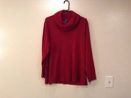 Dark Red Cowl Neck Sweater East 5th Size 1X Slits on Side 100 Percent Acrylic